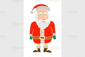 cartoon shocked santa claus