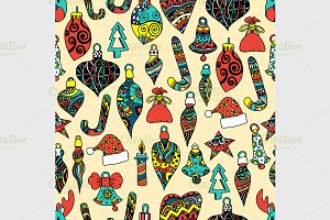 Colored Seamless pattern