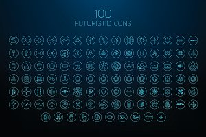 Set of futuristic icons