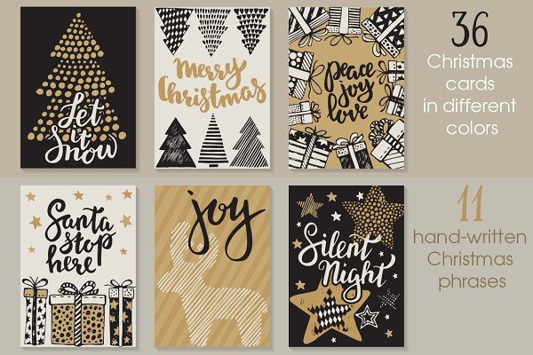 Vector Christmas cards set