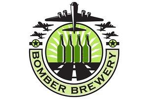 B-17 Heavy Bomber Beer Bottle