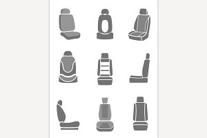 Car Seats Icons