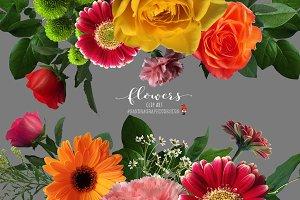 Flowers clip art, floral clipart