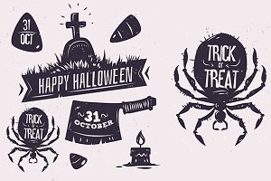 Halloween labels set1