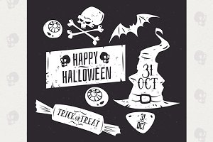 Halloween labels set2