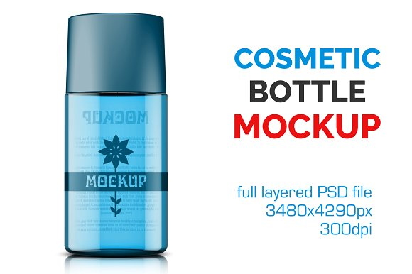 Clear Cosmetic Bottle Mockup Vol. 2 - Product Mockups