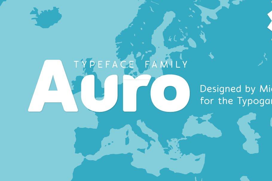 Auro ~ Sans Serif Fonts ~ Creative Market