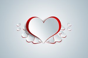 Heart shape on paper craft