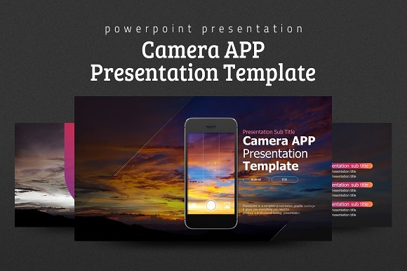 camera app presentation template presentation templates creative