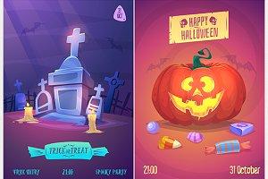 Halloween posters set4