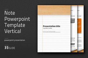 Note Powerpoint Template Vertical