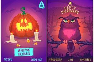 Halloween posters set5