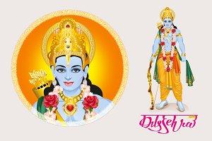 Happy dussehra hindu festival