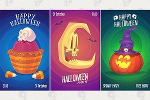 Halloween posters set7