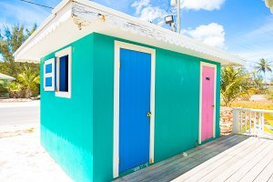 Bright colored house
