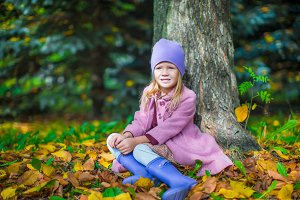 Adorable little girl outdoor