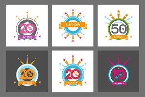 Set 20th, 10th, 50th symbol