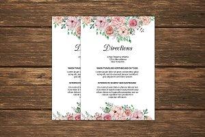 Wedding Information Card Template