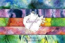 Bright set: watercolor patterns