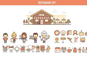 restaurant infographic element