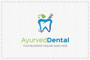 Ayurved Dental logo Template