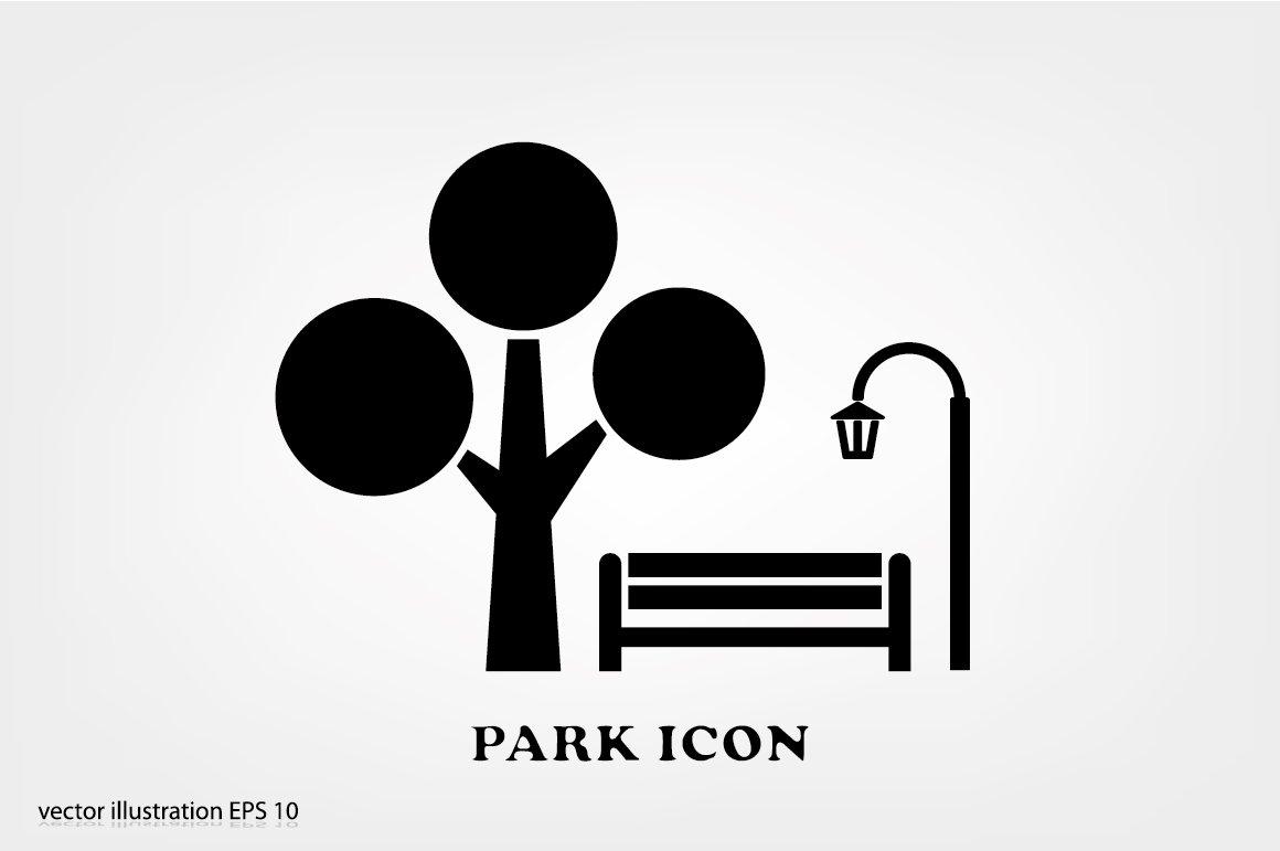 park icon pre designed illustrator graphics creative market park icon