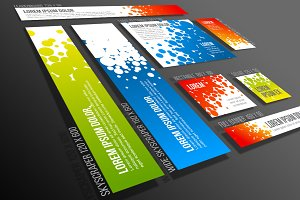 Vector Web Banner Templates Set