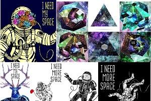 Cosmic poster set
