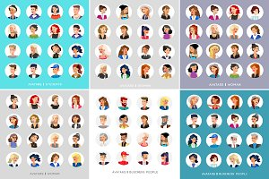 Characters avatars bundle