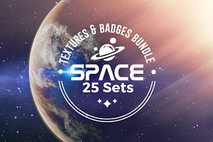 25 SPACE SET | Texture & Badge PACK