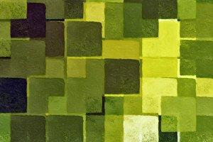 Green Squares Pattern