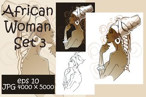 African Woman Set 3