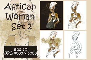 African Woman Set 2