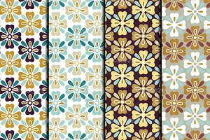 Autumn Flower Vector Patterns
