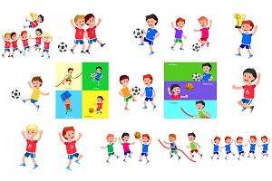 Sports childrens characters set