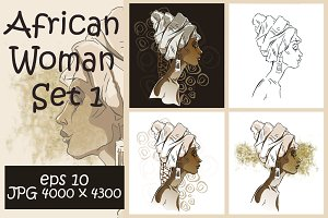 African Woman Set 1