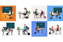 Teacher tutor tutoring kid