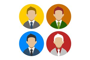 Colorful Businessman Userpics Icons