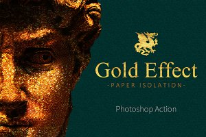 Gold Paper Photoshop Action
