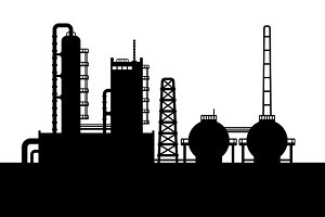 Oil Refinery Plant Set