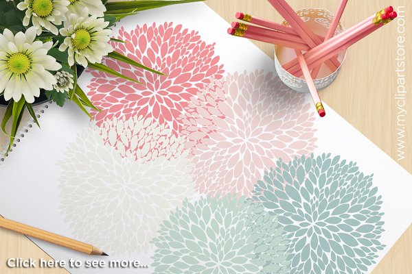 Spring Flowers - Vector Clipart