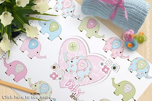 Baby Shower Elephants