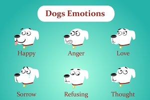 Dog emotions and other icons
