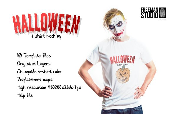 Download Halloween T-Shirt Mock-Up