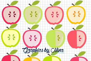 Cute Apple Clipart - Teacher Clipart