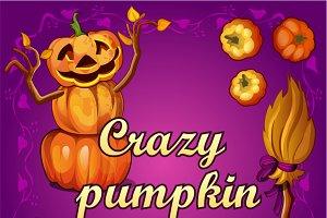 Crazy pumpkin and decoration