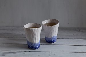 tea in ceramic cups