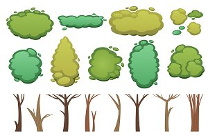 Nature vector cut tree design