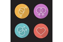 Relationships. 4 icons. Vector