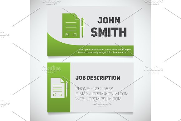 Business card print template. Vector - Illustrations